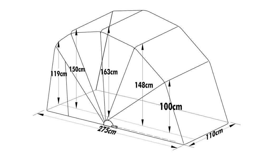 motorcycle cover shelter large sports size dimensions